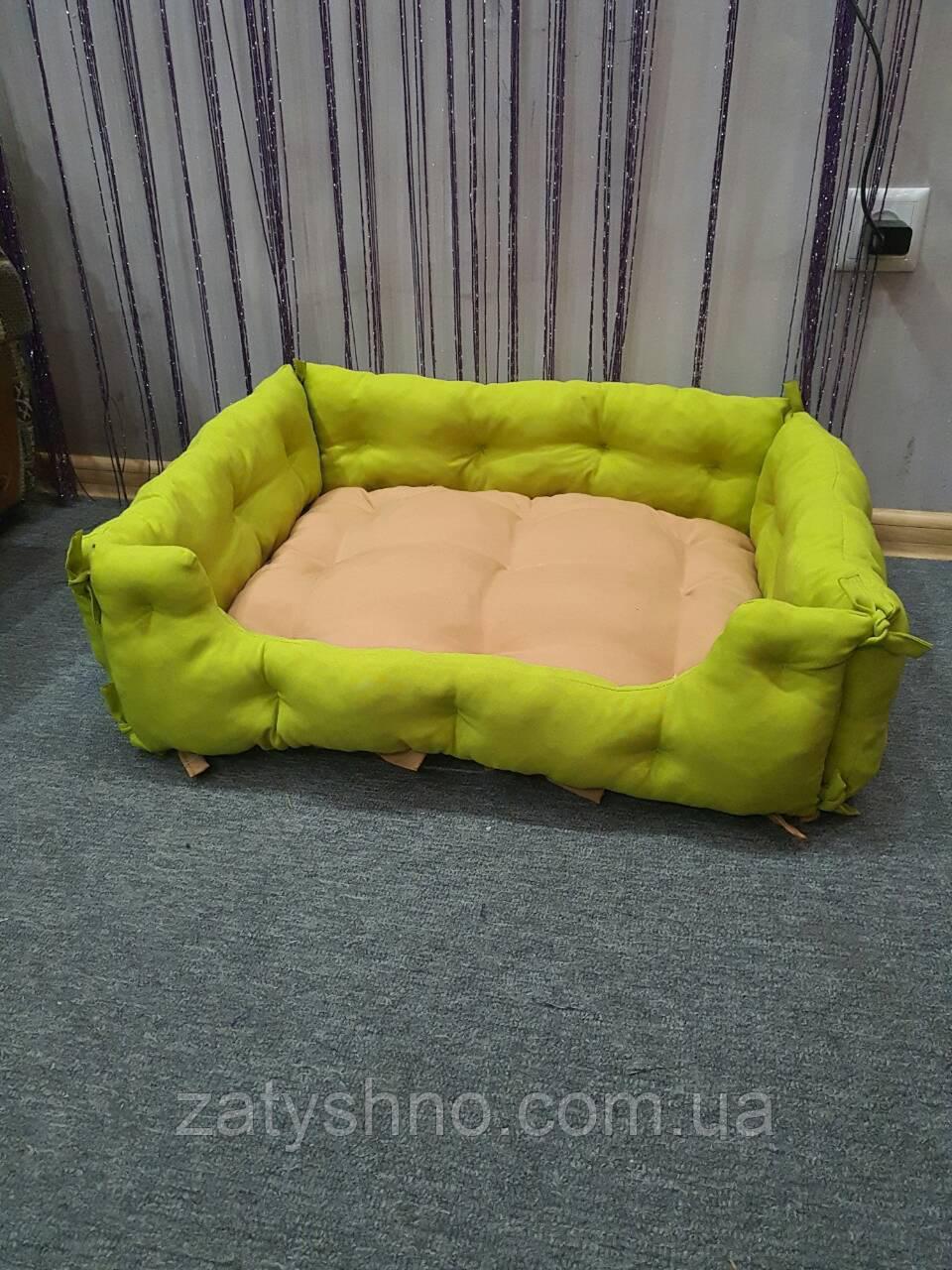 Лежак - диван для кошки и собаки салатовый