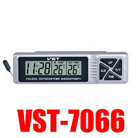 Авточасы VST 7066, оригинал, датчик внутренней и наружной температуры!