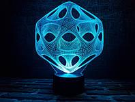 "Сменная пластина для 3D ночника ""Вирус"" 3DTOYSLAMP, фото 1"