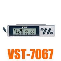 Авточасы VST 7067, оригинал, датчик внутренней и наружной температуры!