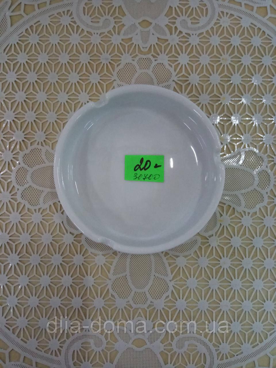 Попільничка керамічна 10 см біла