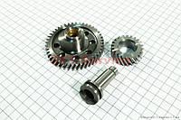 Распредвал к-кт (3 детали)на мотоцикл ZUBR, двигатель CG125-150-200-250cc (с толкателями)