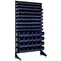 Односторонний стеллаж с ящиками для метизов 1800 мм на 105 контейнеров Чортков