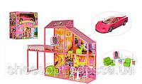 Домик вилла для кукол Барби с машиной и мебелью 80см, 2 этажа, 4 комнаты, терасса