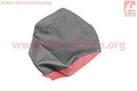 Чехол сиденья (эластичный, прочный материал) черный/красный на грузовой мотоцикл Viper - ZUBR