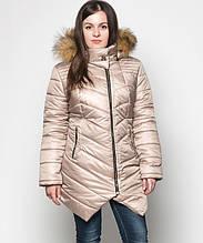 Куртка зимняя женская № 19 (44-52) Бежевый