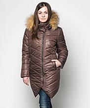 Куртка зимняя женская № 19 (44-52) Шоколад