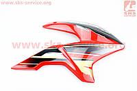 Loncin- LX200GY-3 пластик - бака топливного правый, КРАСНЫЙ на китайский мотоцикл