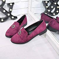 Туфли лоферы Paris бордо, женские туфли