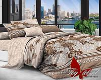 Постель полуторная, постельное недорогое, комплект полуторный, ткань поликоттон, XHY1989