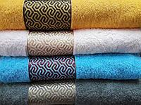 Полотенце махровое для сауны, произведено в Турции, 100х150,  Lux home лабиринт (сауна)