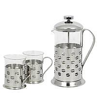 "Набор чайник и 2 стакана ""Coffee Bean"" (600 + 2х200 мл.)"