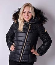 Куртка зимняя женская Naomi (мех) короткая (42-56) Черный