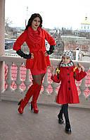 Яркое демесезонное пальто на девочку 4-6 лет