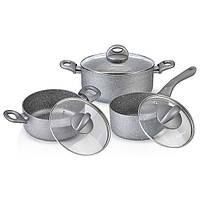 Набор посуды Fissman MOON STONE 6 пр. (Каменное антипригарное покрытие с индукционным дном)