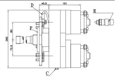 Коробка відбору потужності FHER Mercedes-Benz 2 незалежних виходу (1:1.3-1:1.7)