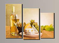 Картина модульная HolstArt Вино 6 56*77см 3 модуля арт.HAT-050