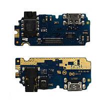 Плата нижняя Meizu U10 (U680H),  с разъемом зарядки и компонентами,  плата зарядки