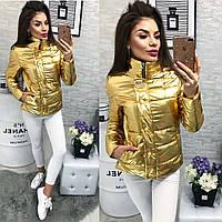 Куртка-новинка,  модель 211/2 желтое золото, фото 1