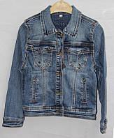 """Куртка джинсовая с металической фурнитурой на девочку 128-158 см Серии """"RESSER"""" купить оптом в Одессе на 7 км"""