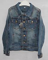 """Куртка джинсовая на пуговицах на мальчика 128-158 см Серии """"RESSER"""" купить оптом в Одессе на 7 км"""