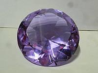 Кристалл сиреневого цвета большой стеклянный фен шуй 10 сантиметров диаметр