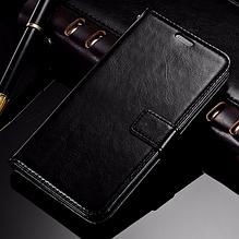 Кожаный чехол-книжка для Samsung Galaxy A9 черный