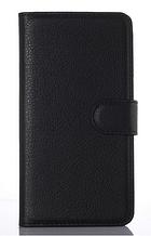 Кожаный чехол-книжка для ZTE Blade V7 Lite черный