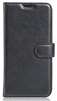Кожаный чехол-книжка для Meizu M5 черный