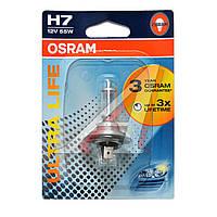Лампа фарная H7 12V 55W PX26d ULTRA LIFE 1шт.blister (пр-во OSRAM) 64210ULT-01B