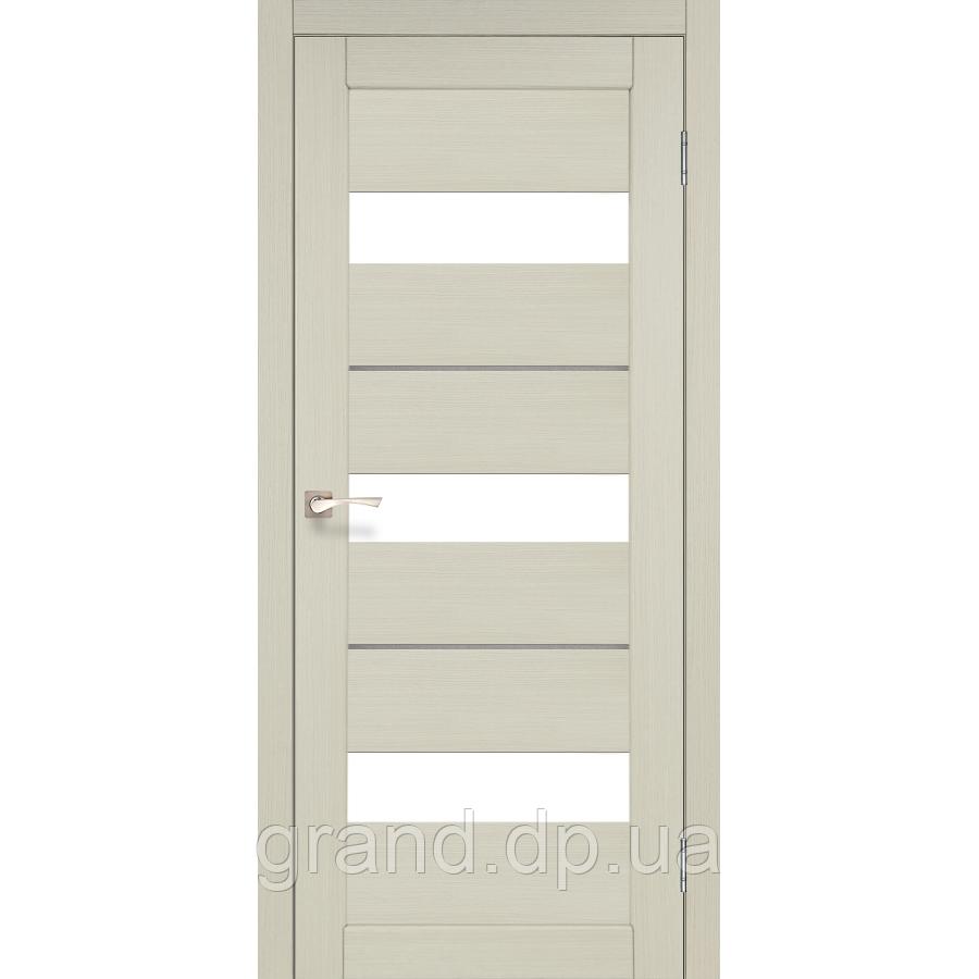 Двери межкомнатные  Корфад PORTO DELUXE Модель: PD-12 дуб беленый c матовым стеклом