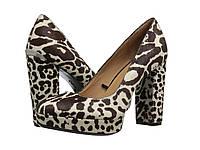 Туфли на каблуке (Оригинал) Calvin Klein Monika Black/White Winter Leopard Haircalf
