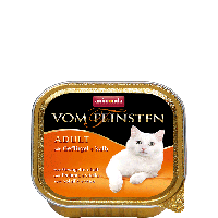 Консервы Vom Feinsten с домашней птицей и телятиной (для взрослых котов и кошек), 100г