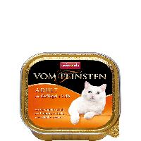 """Консервы Vom Feinsten """"С домашней птицей и телятиной"""" 11,5/4,7 (для взрослых котов и кошек), 100г"""