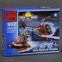 """BRICK 902 (120) """"Пожарная тревога"""", 111 дет, в коробке"""