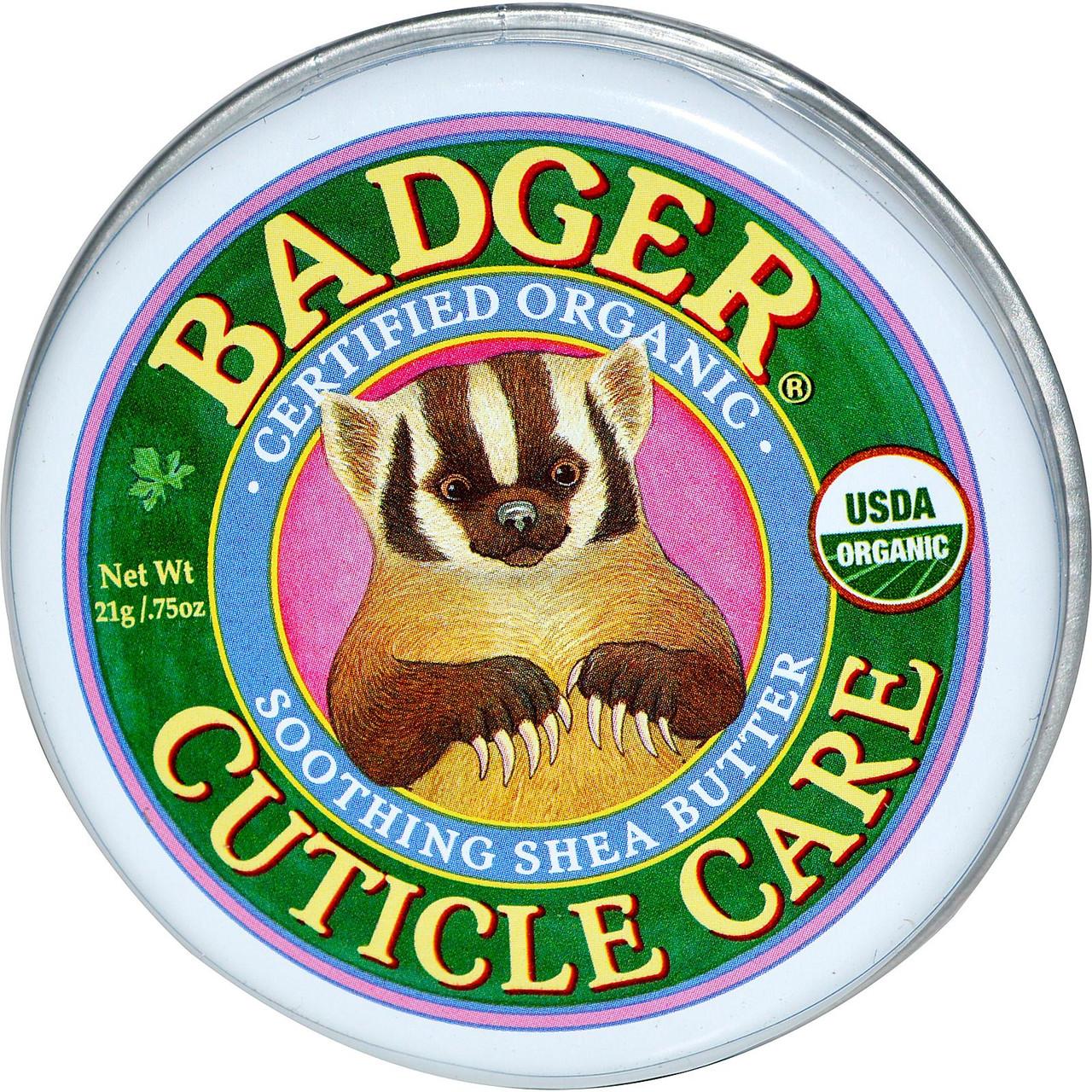 Органический крем для кутикулы с маслом ши Badger Soothing Shea Butter Cuticle Care
