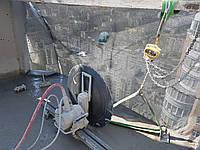 Алмазная резка бетона стенорезными машинами глубиной пропила до 730 мм.