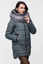 Зимняя женская удлинённая куртка Z-148