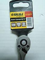 Ключ-трещотка 1/4 малая 72 зуба 150мм Sigma Crv