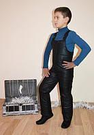 Напівкомбінезон зимовий 122-128-134-140 см чорного кольору, фото 1
