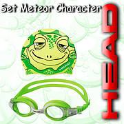 Набор очки + шапочка для деток Mares METEOR CHARACTER (Зеленые)