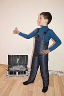 Полукомбинезон зимний 98-104-110-116 см серого цвета, фото 1