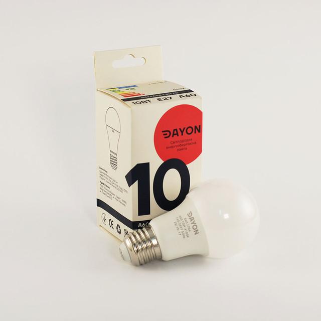 Светодиодная лампа DAYON EMT-1704 A60 10W 4100K E27