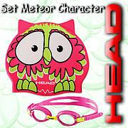 Набор для плавания Mares METEOR CHARACTER (Розово-зеленый)