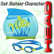 Набор для купания Mares METEOR CHARACTER (Сине-зеленый)