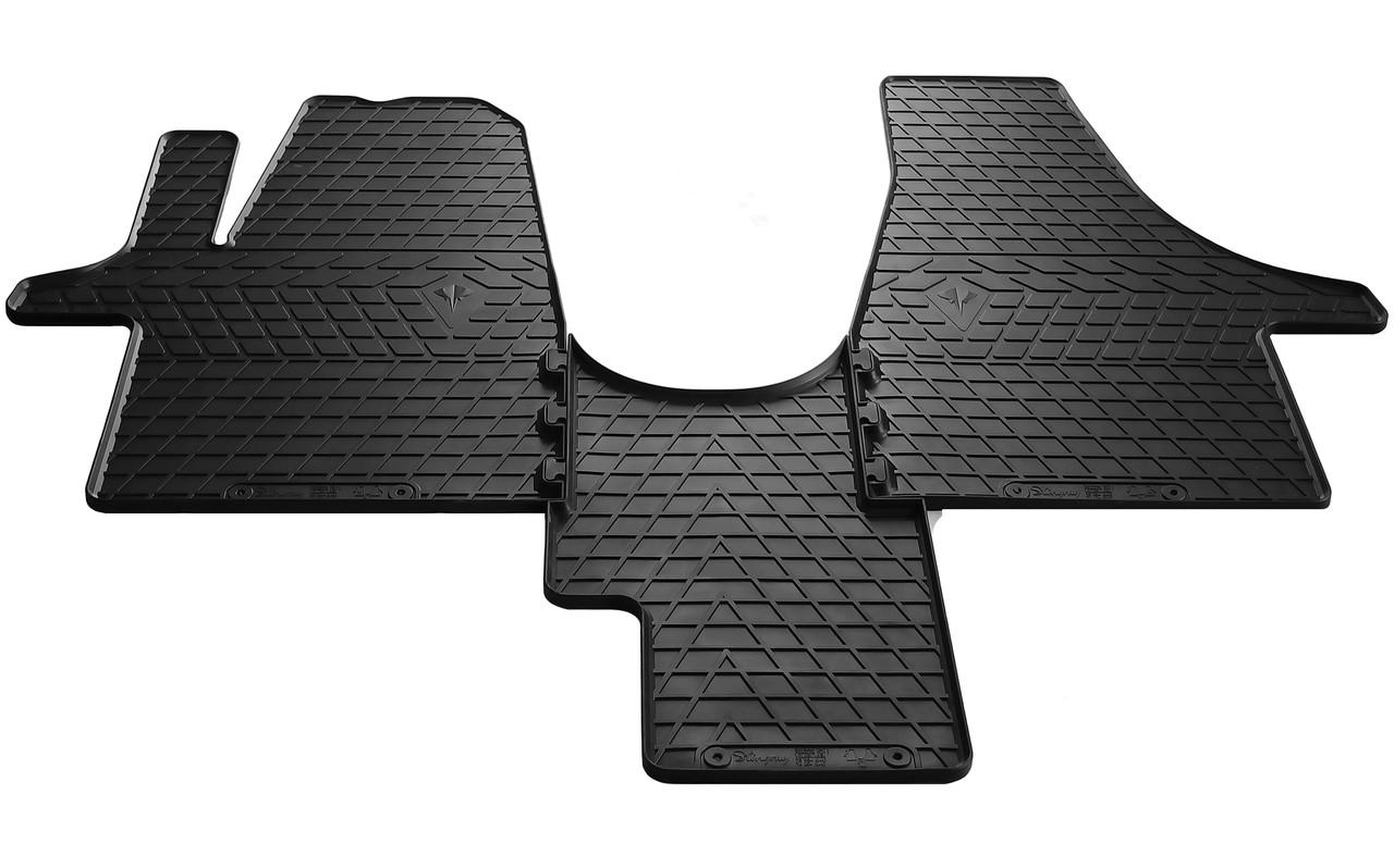 Коврики в салон резиновые для Volkswagen Transporter T6 (1+1) 2015- Stingray (3шт)