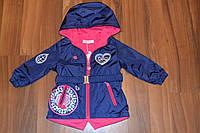 Весенняя куртка-плащ для девочек,Размер 1-5,Фирма TAURUS,Венгрия