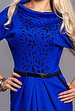 Платье женское мод 441-2 ,размер 48,50 электрик, фото 2