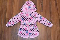 Весенняя куртка-плащ для девочек,Размер 1-5,Фирма S&D,Венгрия