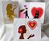 Дизайнерские открытки ручной работы. Подарок на день Святого Валентина